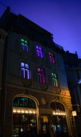 Night time in Riga